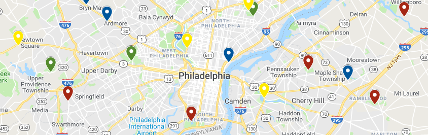 Philadelphia Golf Map Snip