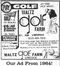 Waltz Golf Farm Ad 1964